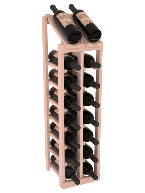 Wine Racks America - 2 Column 8 Row Display Top Kit in Redwood, White Wash Stain - Display your best vintage while efficiently storing 16 wine bottles. This slim design is a perfect fit for almost any space. Our wine cellar kits are constructed to industry-leading standards. Display top wine racks are perfect for commercial or residential environments.