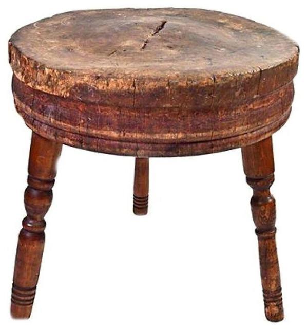 Antique Round Butcher Block Table - $1,100 Est. Retail - $700 on Chairish.com
