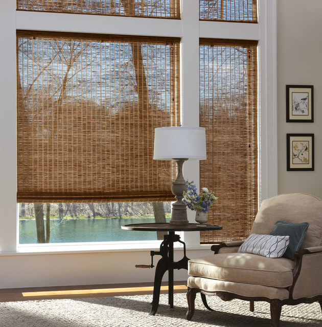 Natural Shade without Lining- Nice See Through traditional-living-room