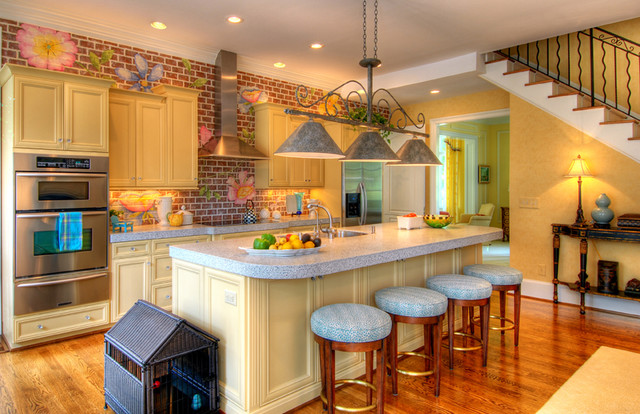 Faux Friendly traditional-kitchen