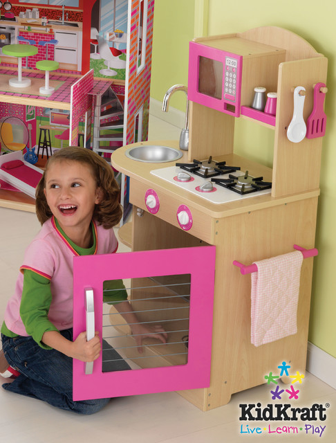 kids pink wooden kitchen from vistastores traditional kids toys and