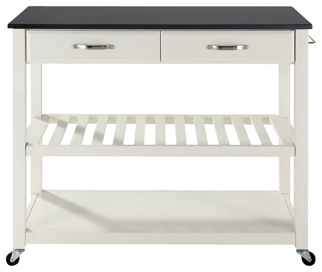 Kitchen Cart in White Finish contemporary-kitchen-islands-and-kitchen-carts