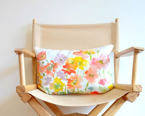 From the Garden Lumbar Pillow Cover by Pineapple Bay Studio -