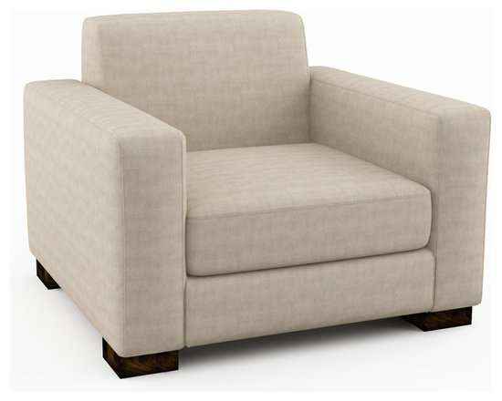 """Brenem 40"""" Chair - With built-in back padding instead of loose pillows, Brenem possesses extremely clean lines for a minimalist, modern sofa. Add accent pillows to help provide additional softness and contrasting color to the sofa.Viesso designs and manufactures this piece of modern furniture. All of the chairs from the Viesso line are built one at a time in Los Angeles in 3 weeks. With all the custom options available, they are truly built for you and your space.  A custom chair that's also an eco chair. Yes, it's that good."""