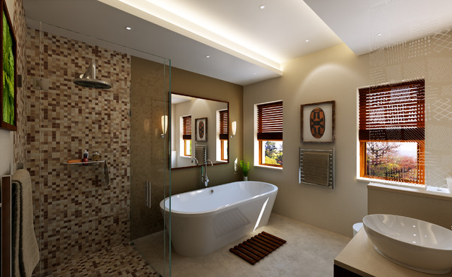 African Impression Contemporary Bathroom Other Metro