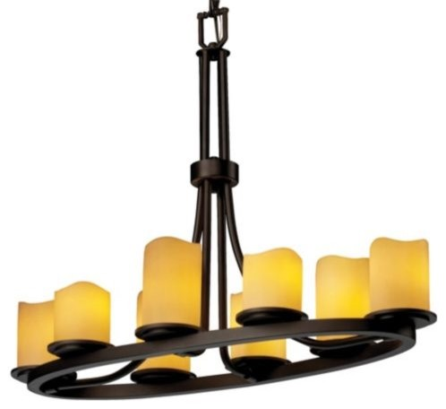 CandleAria Dakota Oval Ring Chandelier by Justice Design Group contemporary-chandeliers