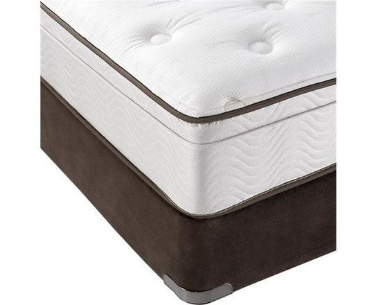 Simmons® Queen BeautySleep® Mattress - Simmons® Beautysleep® mattress requires no flipping, no rotating, no maintenance. High-quality construction features a patented, individually wrapped coil system and comfort foam to reduce the transfer of weight and movement from one side of the mattress to the other. Edges are constructed with a thick coil design for a more stable sleeping area. Each mattress has a plush Euro top with quilted cover. Foundations sold separately.