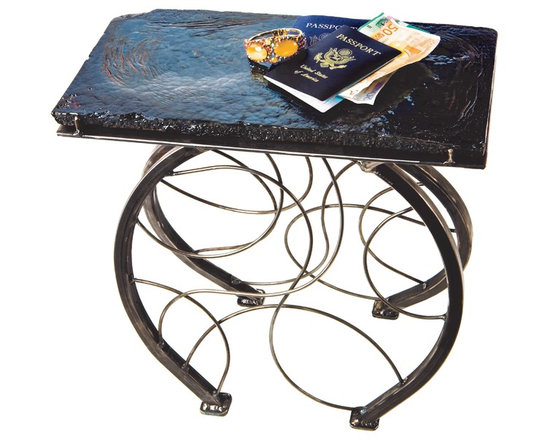 Paris By Bicycle Accent Table -