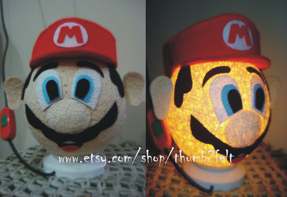 Mario Bros. Table Lamp by Thumb 2 Felt contemporary-table-lamps