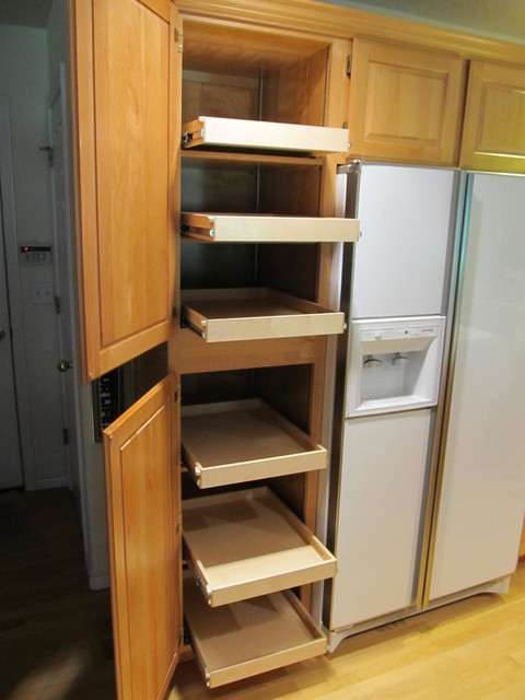 pantry slide out shelving portland by shelfgenie of. Black Bedroom Furniture Sets. Home Design Ideas