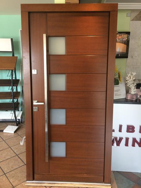 Modern Meranti Wood Exterior Doors In Stock Sale Size