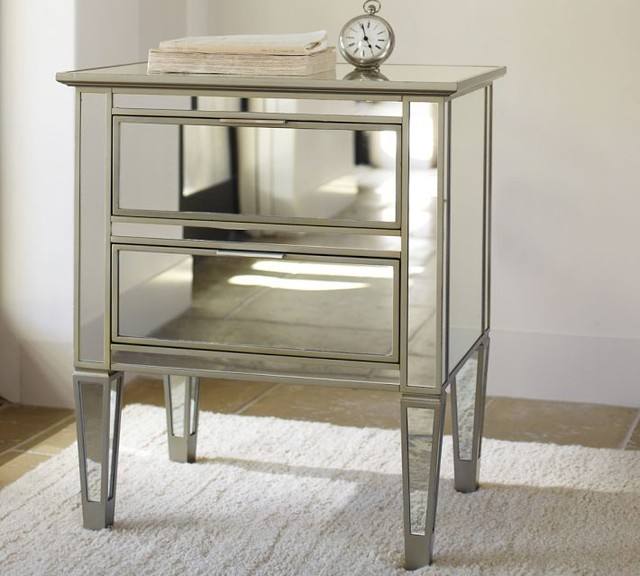 Mirror Bedside Table : Mirrored Bedside Table - Contemporary - Nightstands And Bedside Tables ...