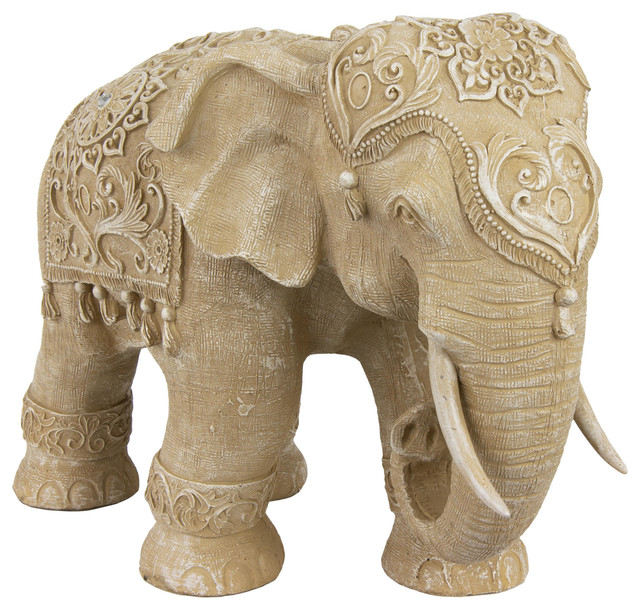20 Ivory Elephant Statue Traditional Home Decor By Oriental Furniture