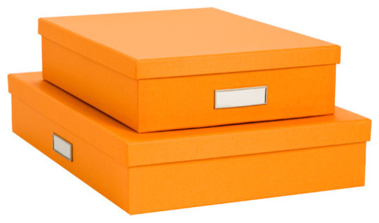 Bigso Stockholm Letter Box, Orange modern storage boxes