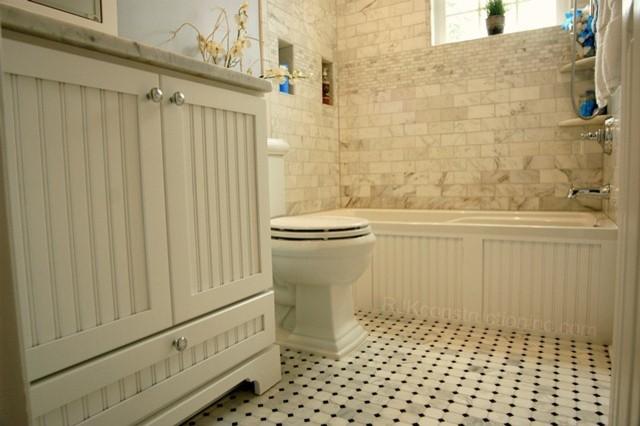 Cape Cod Chic Bathroom Traditional Dc Metro