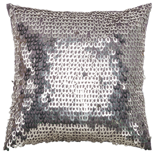 Rizzy T07979 Pillow, Light Purple, 18
