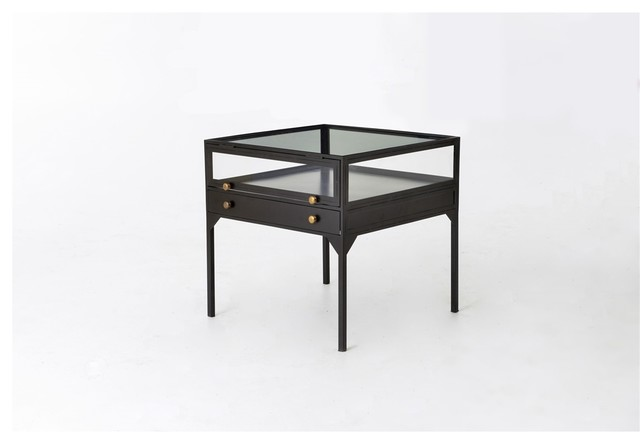 Shadow Box End Table contemporary-side-tables-and-end-tables