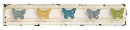 Chaps Butterfly Metallic Wall Hooks transitional-hooks-and-hangers