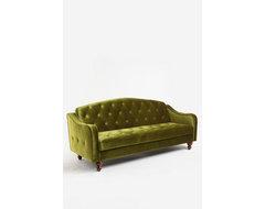 Ava Tufted Sleeper Sofa, Moss eclectic-futons