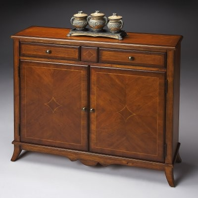 Butler Console Cabinet - Antique Cherry - modern - bathroom ...