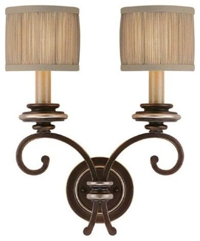 Capital Lighting 1952CZ-406 2 Light Sconce Park Place Collection wall-lighting