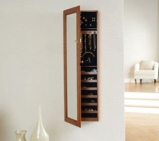 Gold and Silver Safekeeper Jewelry Cabinet with Wall Mount - Contemporary - Medicine Cabinets ...