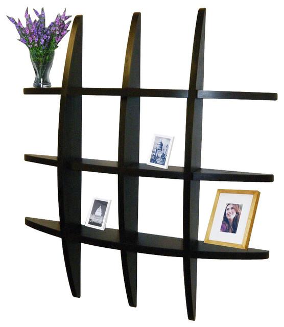 Welland Lexington Globe Cross Display Wall Shelf - Contemporary - Wall Shelves - by Welland ...