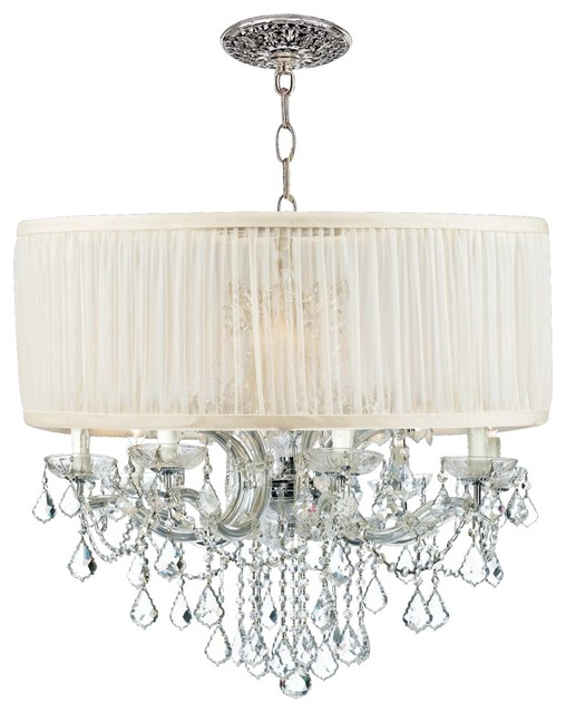 Brentwood Collection Chrome 12-Light Crystal Chandelier contemporary chandeliers