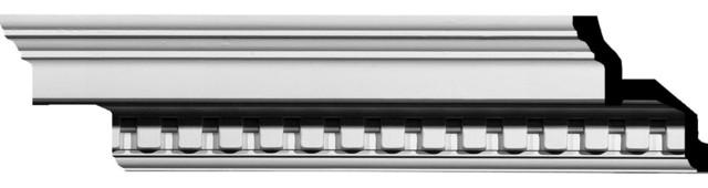 "4 1/2""H x 4 1/2""P x 6 3/8""F x 94 5/8""L Dentil Crown Moulding modern-moulding"
