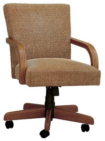 Keller Tilt Swivel Dining Arm Chair With Casters Modern