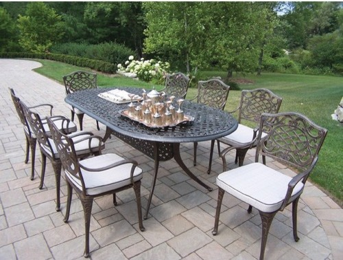 Mississippi 9 Piece Dining Set Modern Patio Furniture And Outdoor Furnitu