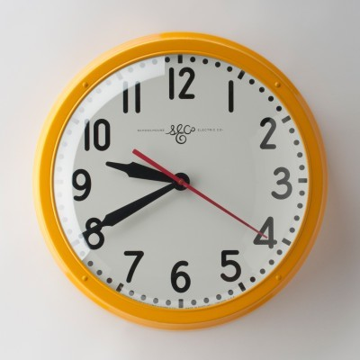 modern clocks by Schoolhouse Electric