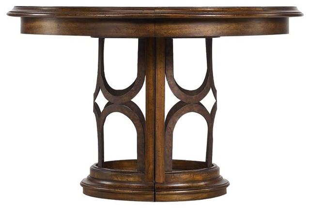 Archipelago Monserrat Round Pedestal Table, Fathom traditional-dining-tables