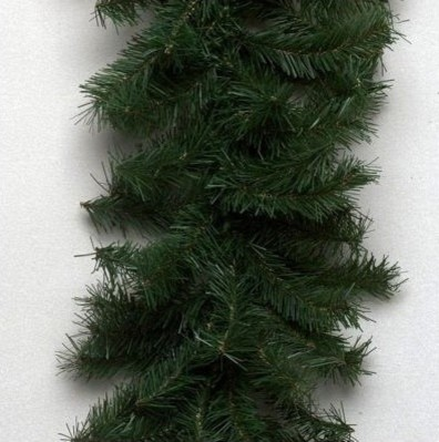 """Canadian Pine 1200"""" Garland with 2860 Tips modern-wreaths-and-garlands"""