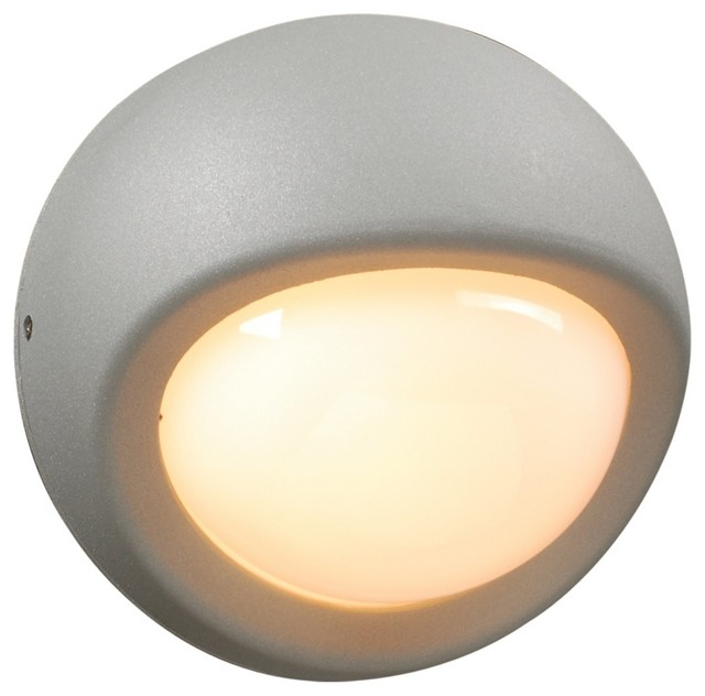"""Contemporary Sol Collection 7 1/2"""" Wide Silver Outdoor Wall Light contemporary-outdoor-lighting"""