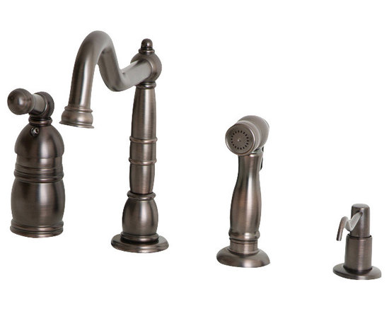 Giagni Giardino LK103 Traditional Single Lever Faucet with Spray - Bring the epitome of classic styling and elegance into your home with this Traditional Faucet by Giagni.  Old world charm paired with the convenience of modern functionality make this faucet a necessity for any traditional kitchen.