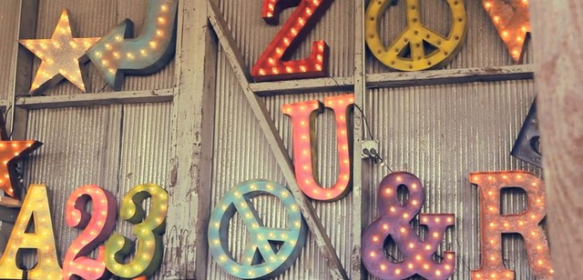 Vintage Lighted Letters Numbers And Symbols Eclectic