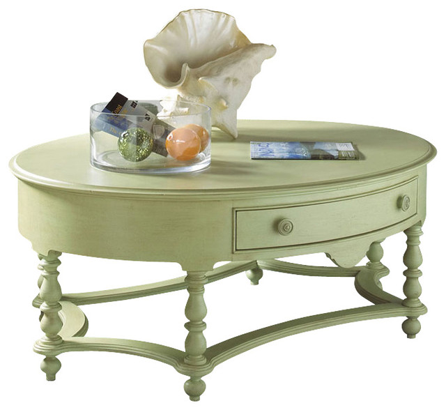 Houzz Black Coffee Table: Summer Home Oval Cocktail Table