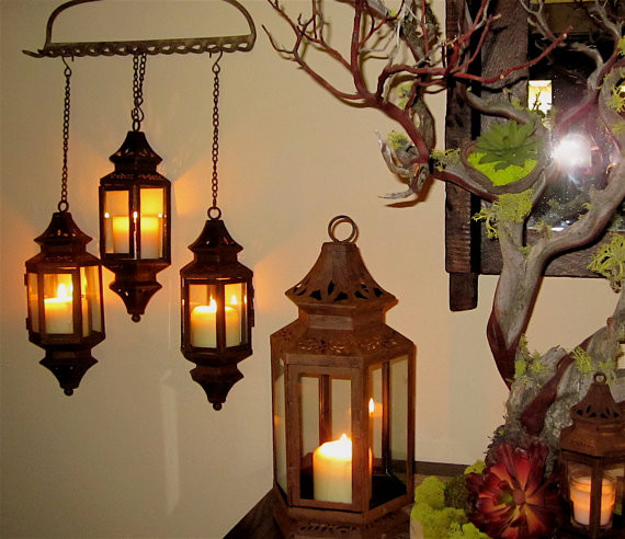 Patina Hanging Lantern By madebysheri mediterranean outdoor lighting