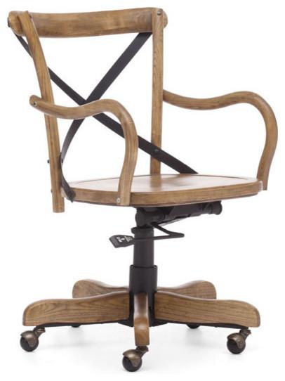 Union Square fice Chair Elm Wood Rustic fice