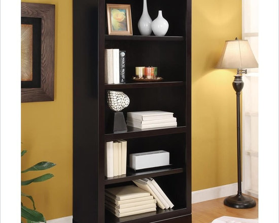 Wynwood Palisade Bunching Bookcase in Dark Sable - Every home needs a place to work but many just don't have the space. SOHO Solutions FLEX is the perfect home office solutions for small spaces. Flex provides all the functions needed for an effective work environment without the over-scaled size. Palisade, in a Dark Sable finish, is a contemporary design.