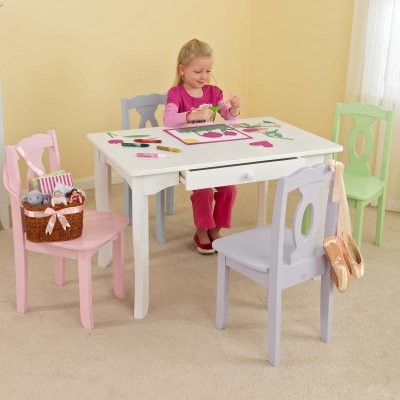 KidKraft Brighton White Table - Create Your Own Set! modern-changing-tables