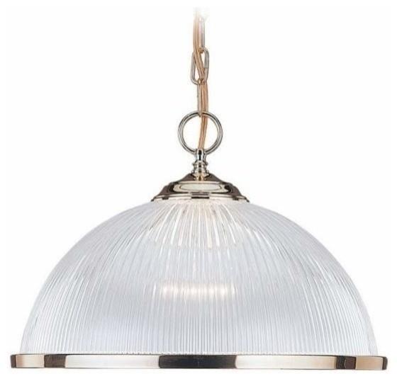 1-Light Pendant Polished Brass traditional-pendant-lighting