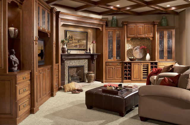Family Rooms, Home Offices, Entertainment Areas traditional-living-room