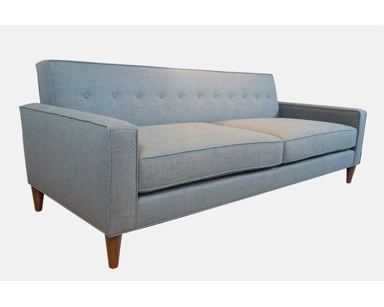 Zoey Sofa - The Zoey Sofa has a stately presence but contains plenty of urban sophistication. The button tufted back compliments the seat cushions, creating a sofa fit for a chic home.