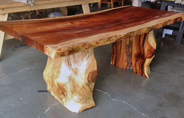 Natural Edge Dining Table With Tree Trunk Legs 40 X 8 0
