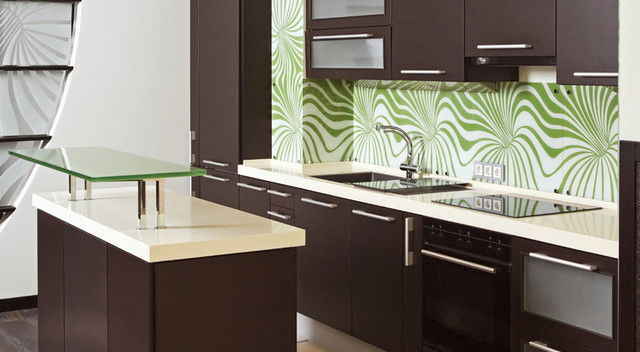 ... Brown Kitchen Cabinets Tribecca Door Style Kitchen Cabinet. Dark ...