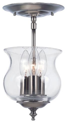 Ascott Pewter Three-Light Bell Jar Pendant modern-ceiling-lighting