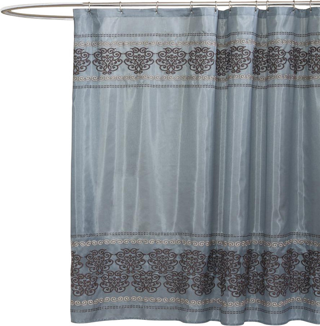 Royal Dynasty Blue Shower Curtain Contemporary Shower Curtains By Shopladder
