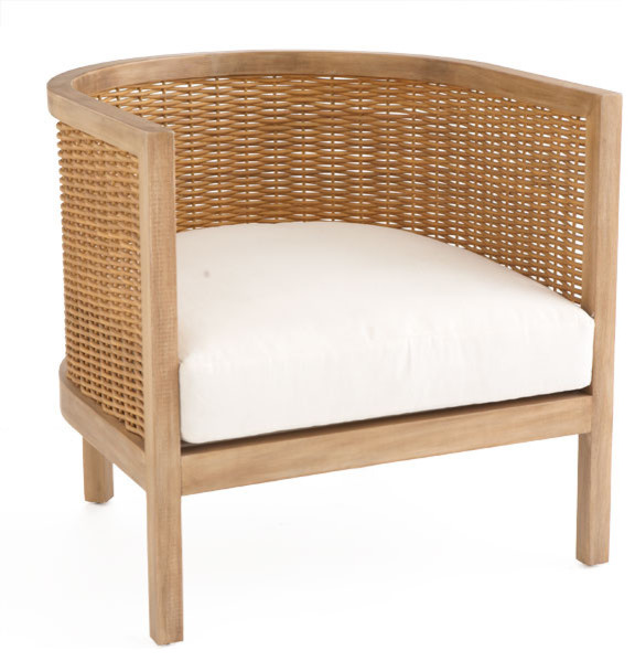Woven Rattan Club Chair tropical-armchairs-and-accent-chairs
